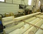 10'' log siding outside