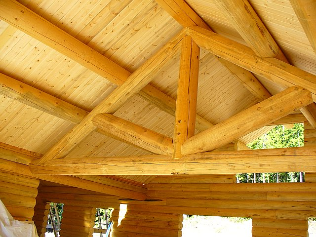 Log Trusses Lumberjack Homes