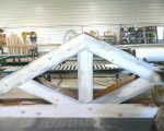 Square Log truss clear